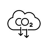 Carbon emissions reduction icon