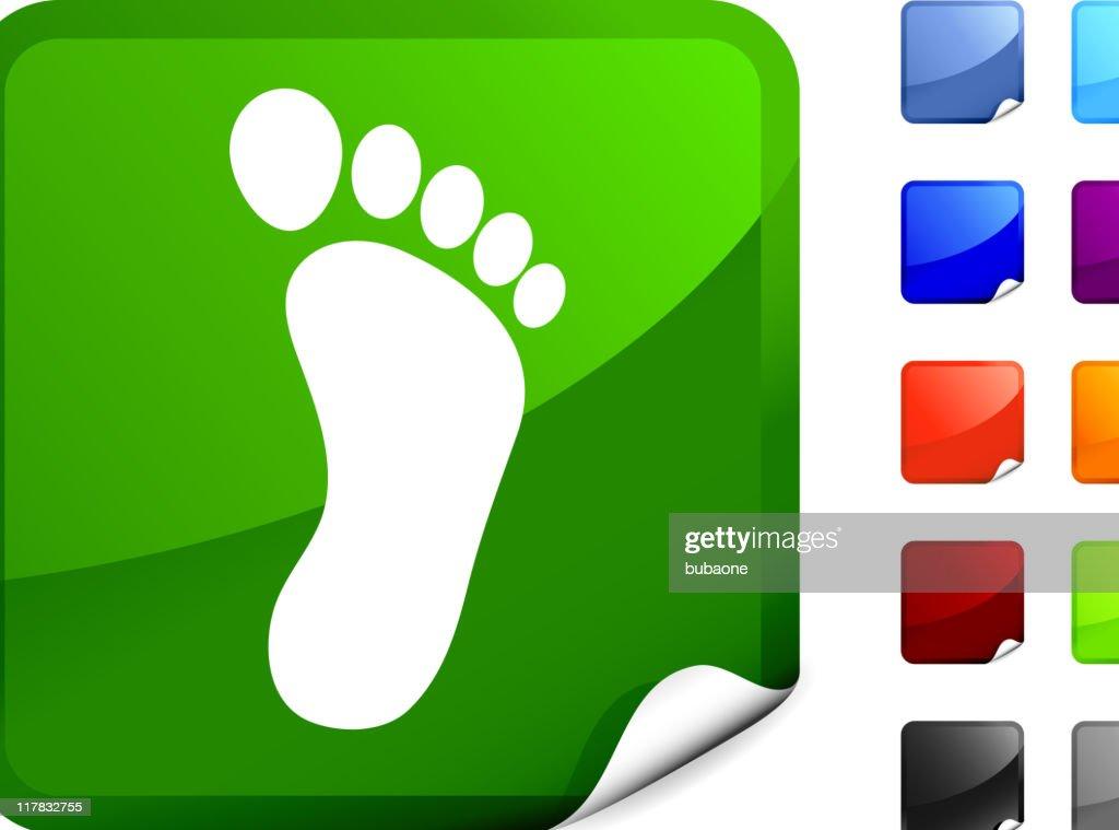 carbon foot print internet royalty free vector art