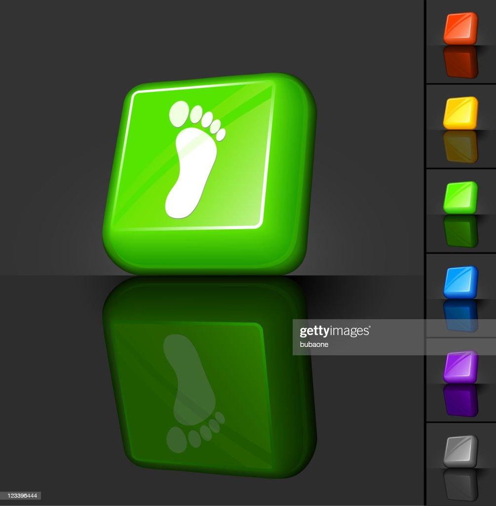 carbon footprint 3D button design