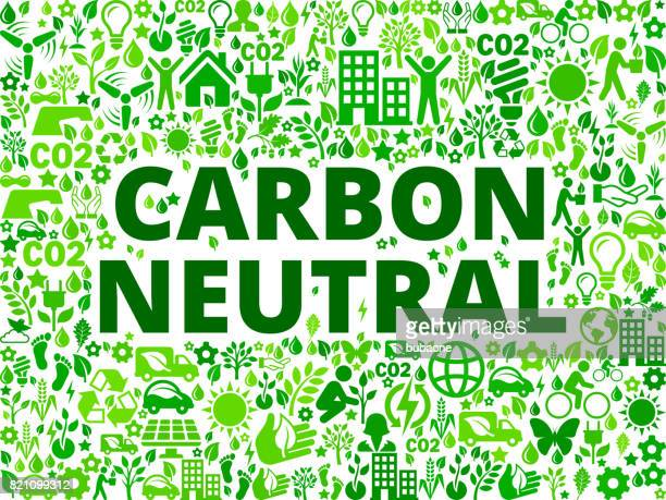 carbon neutral environmental conservation vector icon pattern - activist icon stock illustrations