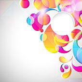 Card background. Abstract bright color drops
