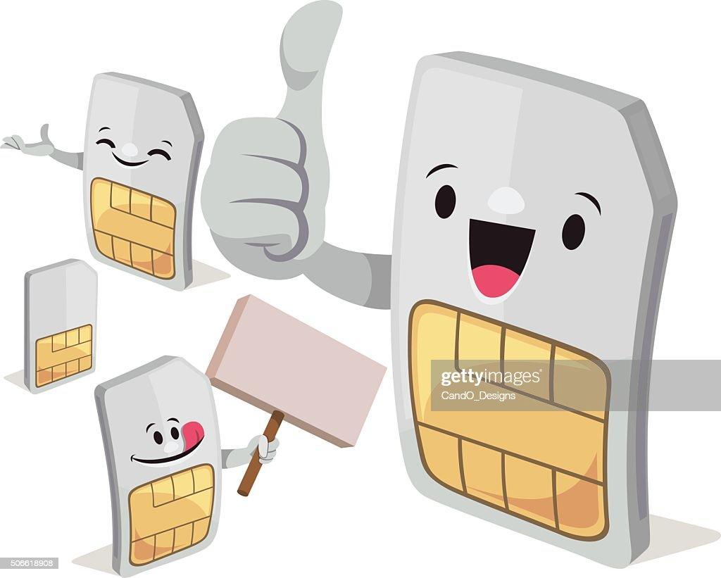 SIM Card Cartoon Set C