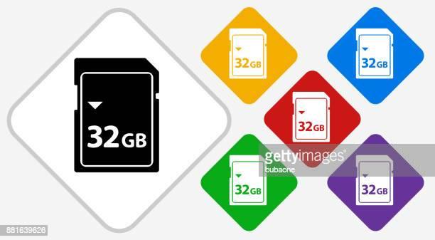 32GB SD Card Color Diamond Vector Icon