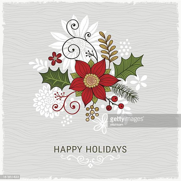card design wishing a happy holidays - happy holidays stock illustrations, clip art, cartoons, & icons