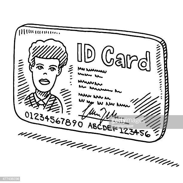 身分証明書カードの描出
