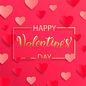 Card for happy Valentines day. Vector.