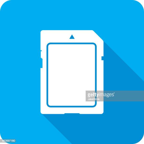 SD Card Front Icon Silhouette