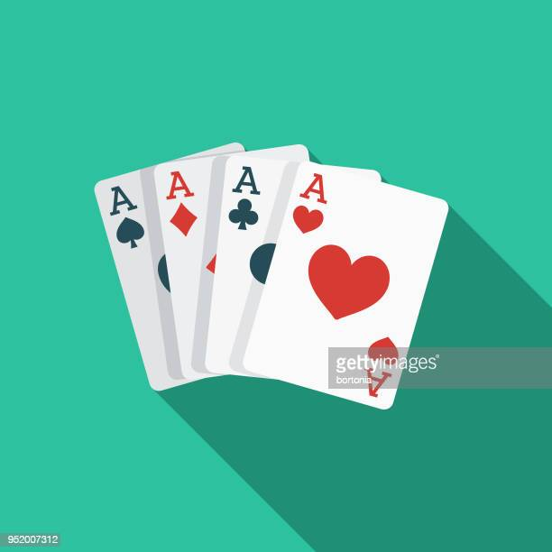card games flat design western icon - ace stock illustrations, clip art, cartoons, & icons