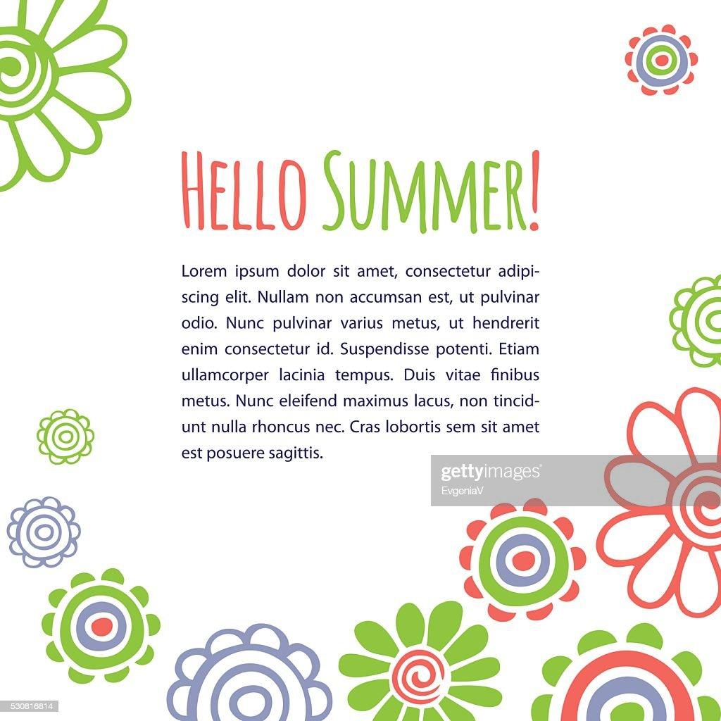 Card Hello summer