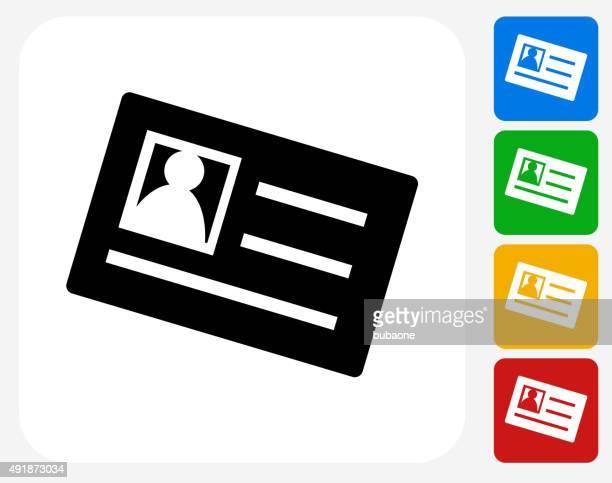 illustrations, cliparts, dessins animés et icônes de icône de carte d'identité à la conception graphique - identity