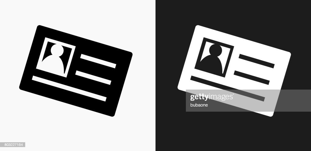 id card icon on black and white vector backgrounds vector art