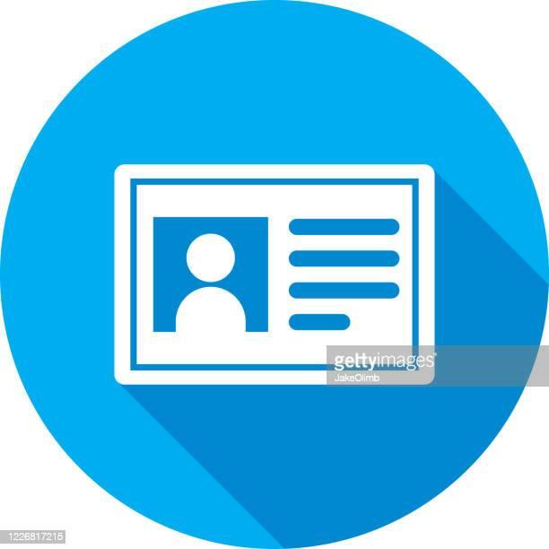 illustrations, cliparts, dessins animés et icônes de id card icône silhouette 1 - permis de conduire