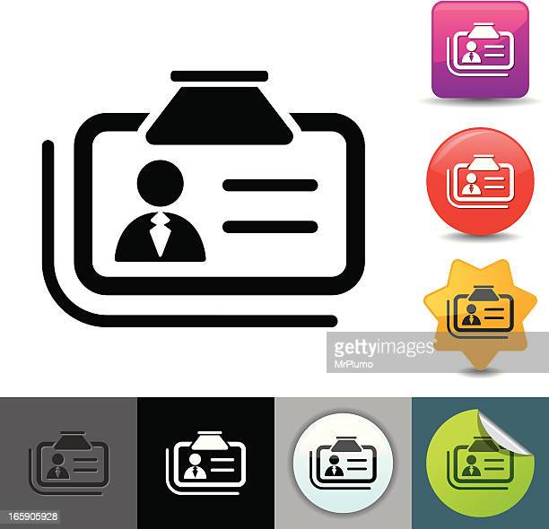 id card icon | solicosi series - security pass stock illustrations, clip art, cartoons, & icons