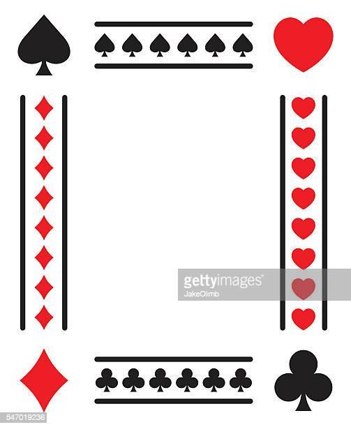 ilustrações, clipart, desenhos animados e ícones de card suits frame - poker