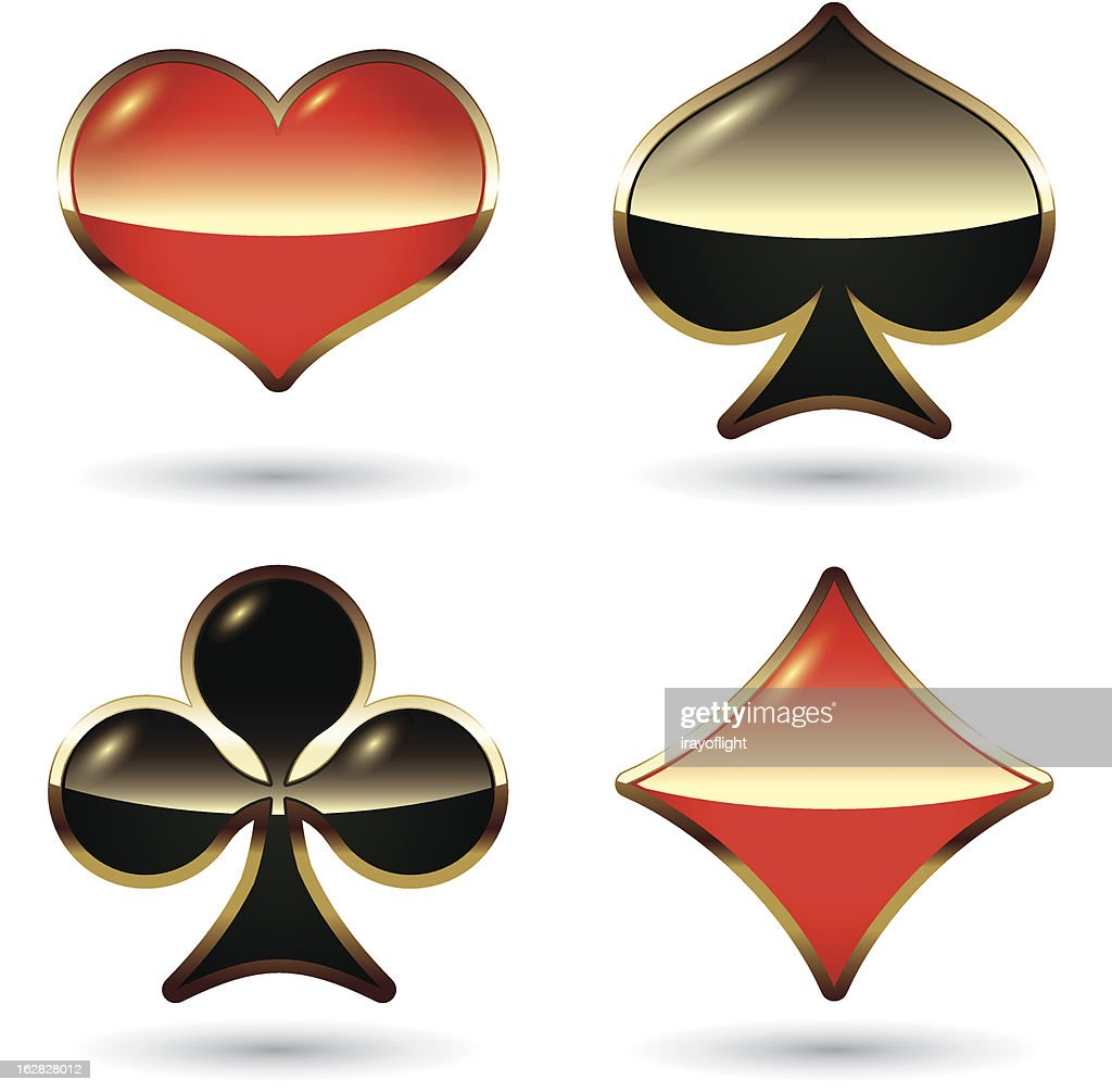 Card suits isolated. Vector illustration