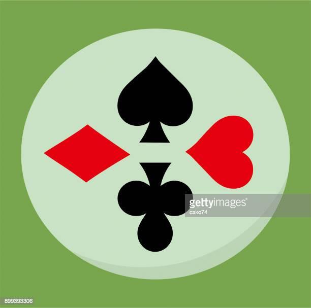 Card symbols flat graphic design