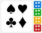 Card Symbols Set Icon Flat Graphic Design