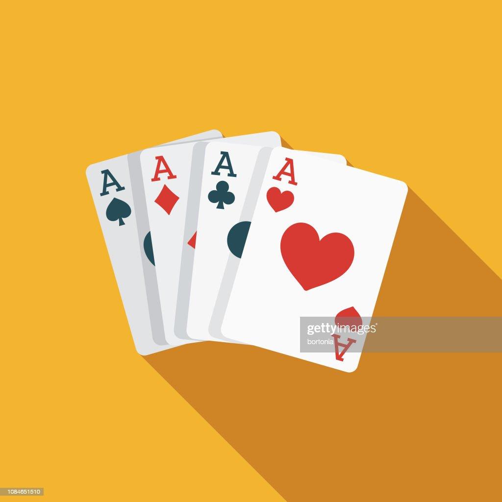 Card Trick Flat Design April Fools Day Icon : Stock Illustration
