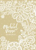 Card with a white lace.