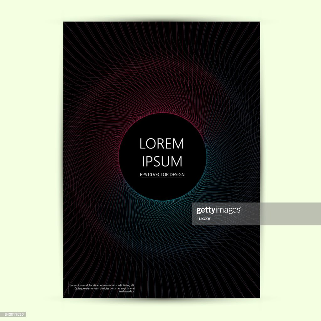 card with blend liqud colors. Futuristic abstract design. Usable for banners, covers, layout and posters. Vector