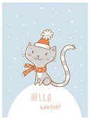 Card with cat.