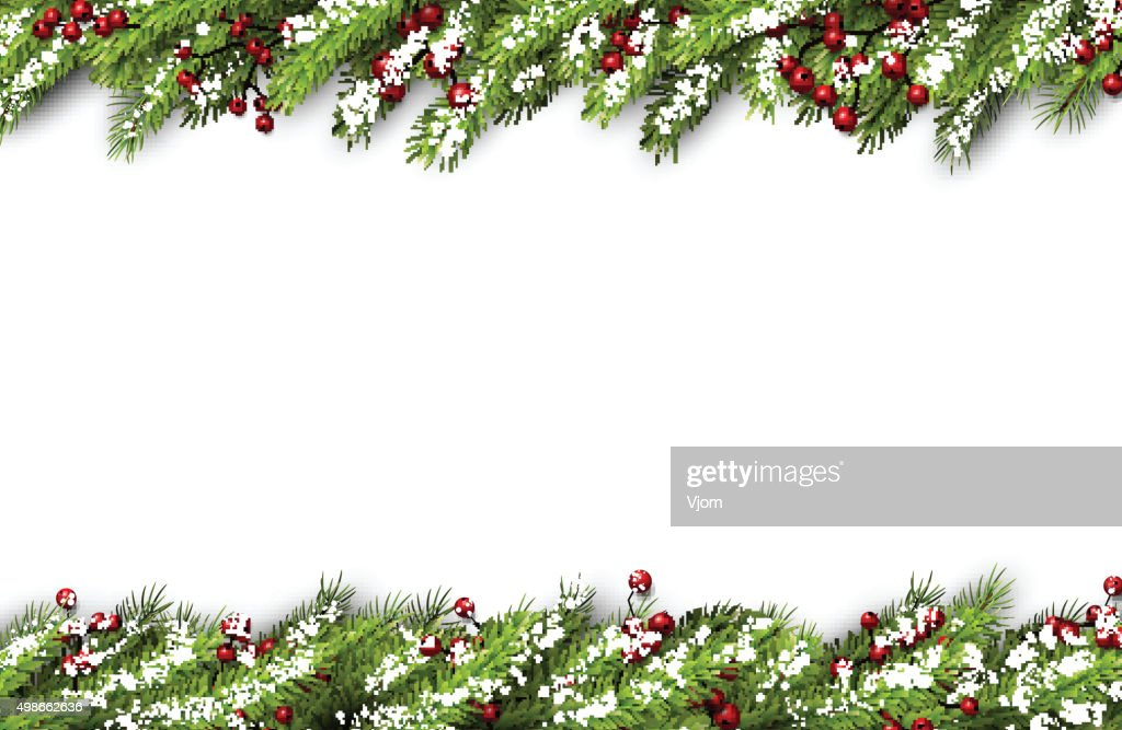 Card with fir branches