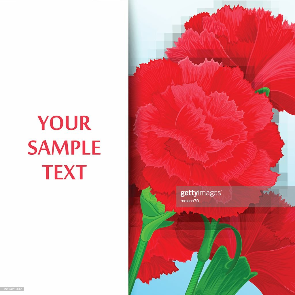 Card with flowers Carnations