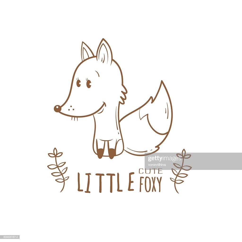 Card with fox.