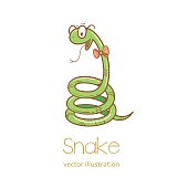 Card with snake.