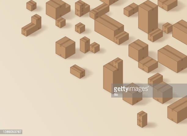 段ボール箱在庫出荷の背景 - 荷積み場点のイラスト素材/クリップアート素材/マンガ素材/アイコン素材