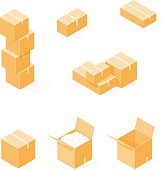 Cardboard Boxs.