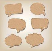 Cardboard Comic Speech Bubbles