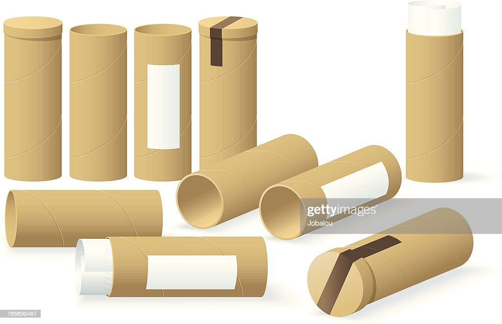 Cardboard Cylinders : Stock Illustration