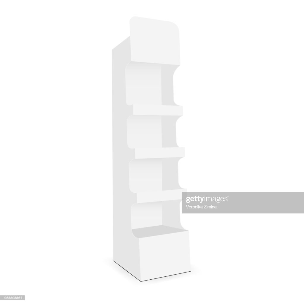 Cardboard display stand with 4 shelf