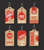 Cardboard Summer Sales Labels