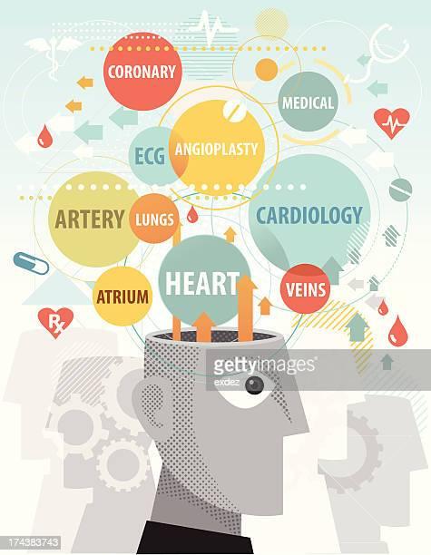 cardiac terms in mind - neurosurgery stock illustrations, clip art, cartoons, & icons