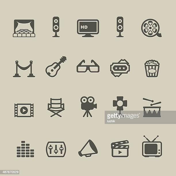 cardico - cinema - soundtrack stock illustrations, clip art, cartoons, & icons