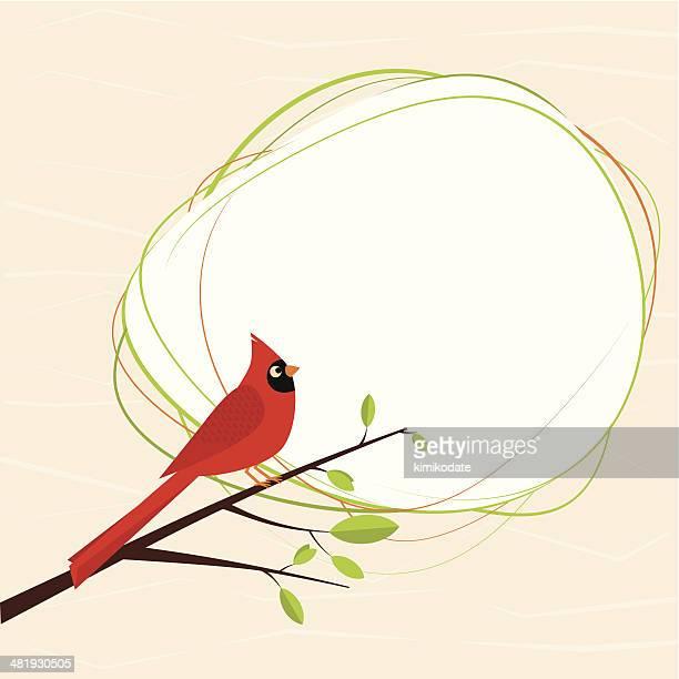 cardinal bird - cardinal bird stock illustrations, clip art, cartoons, & icons