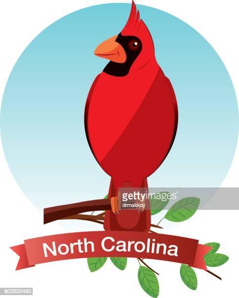 ノースカロライナ州の枢機卿の鳥