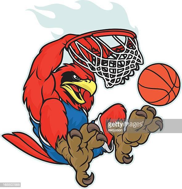 Cardinal du8nking a basketball