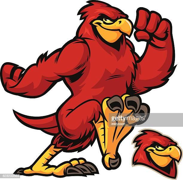 cardinal running - cardinal bird stock illustrations, clip art, cartoons, & icons