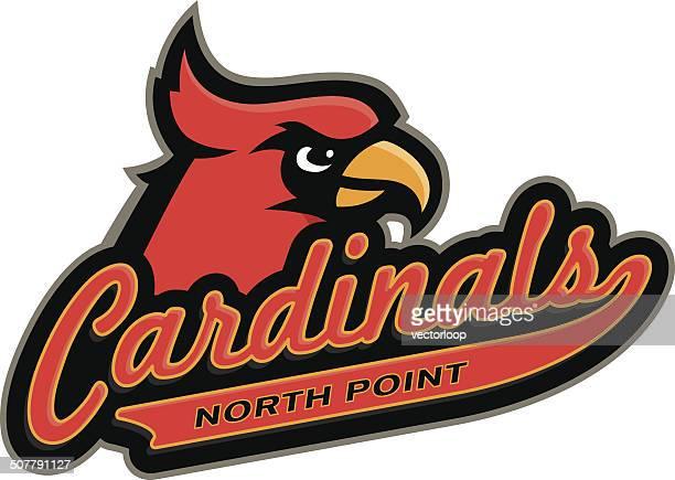 cardinals logo - cardinal bird stock illustrations, clip art, cartoons, & icons