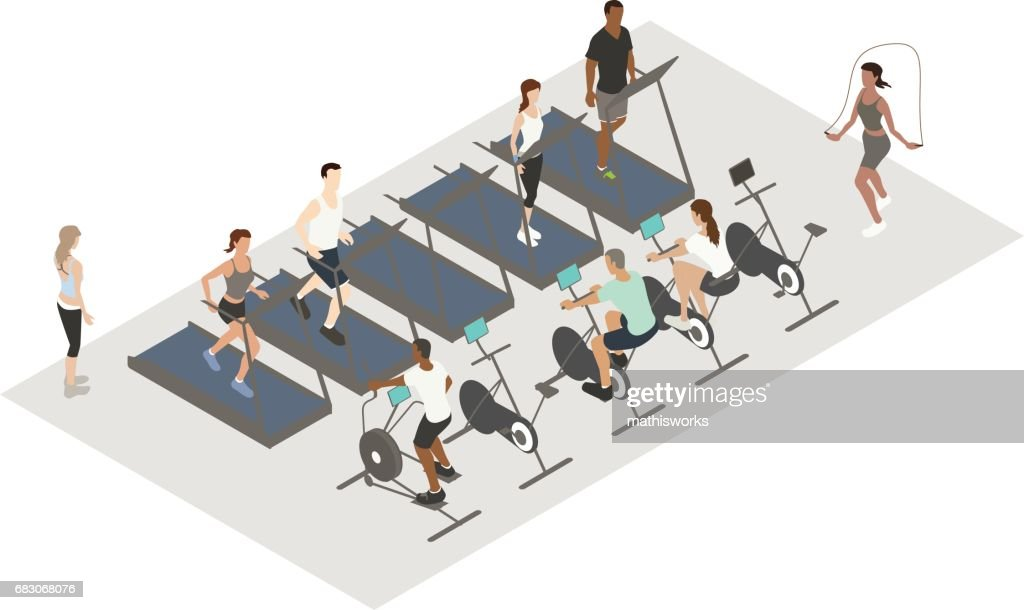 Cardio Workout Illustration : Vector Art