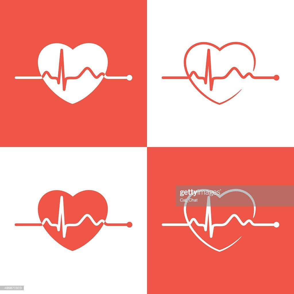 Cardiogram icons