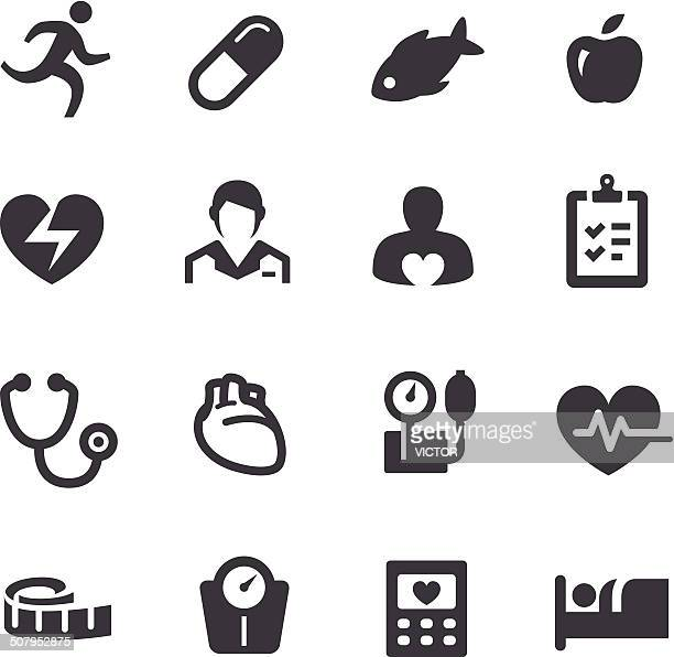 cardiology icons - acme series - cardiologist stock illustrations