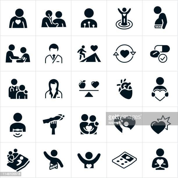 心臓病のアイコン - 医院点のイラスト素材/クリップアート素材/マンガ素材/アイコン素材
