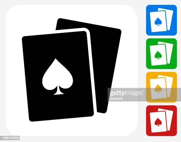 Cards Icon Flat Graphic Design