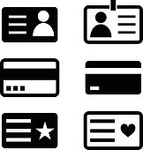 ID cards icons.