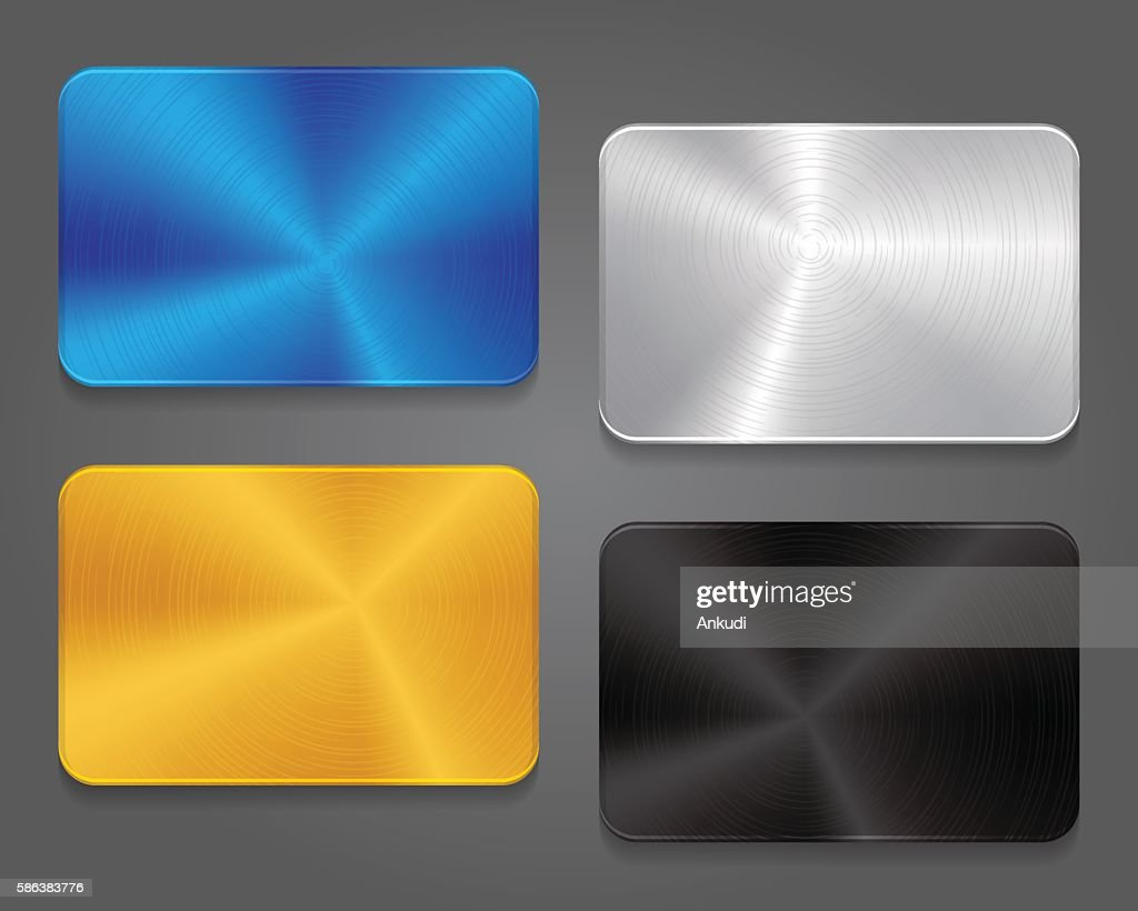 Cards with metal background.