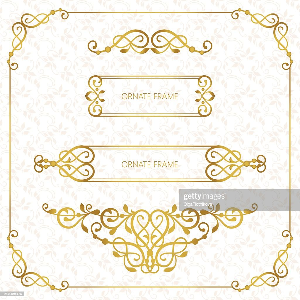 cardSet vector decorative frame.
